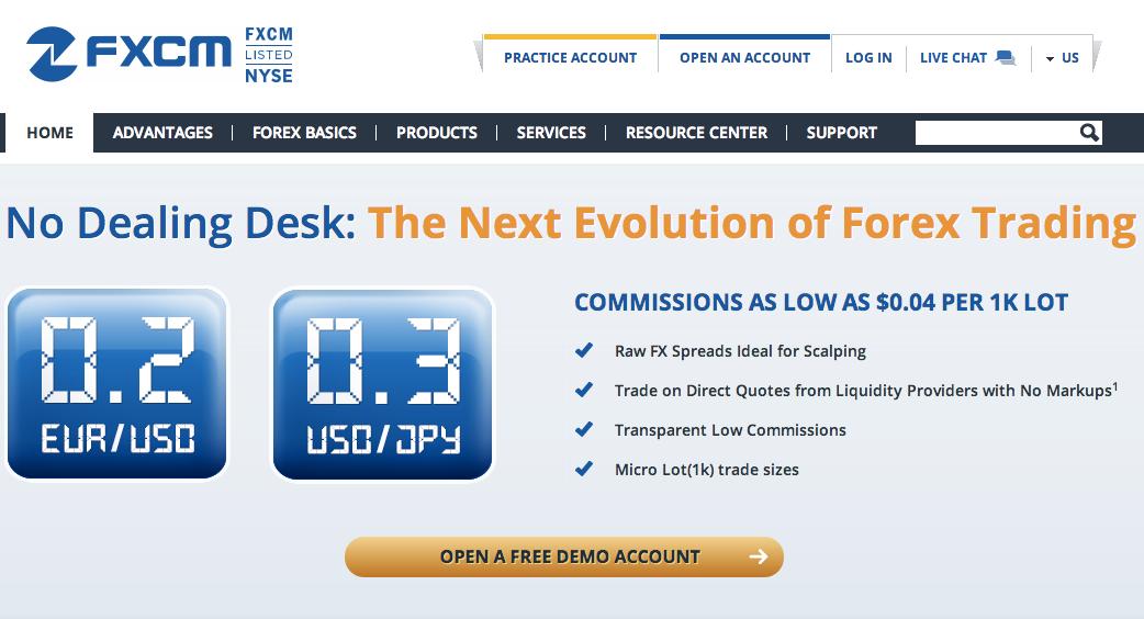fxcm commissions