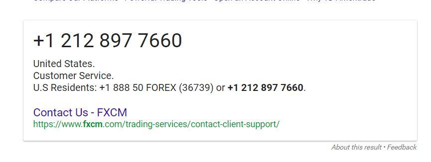fxcm phone number