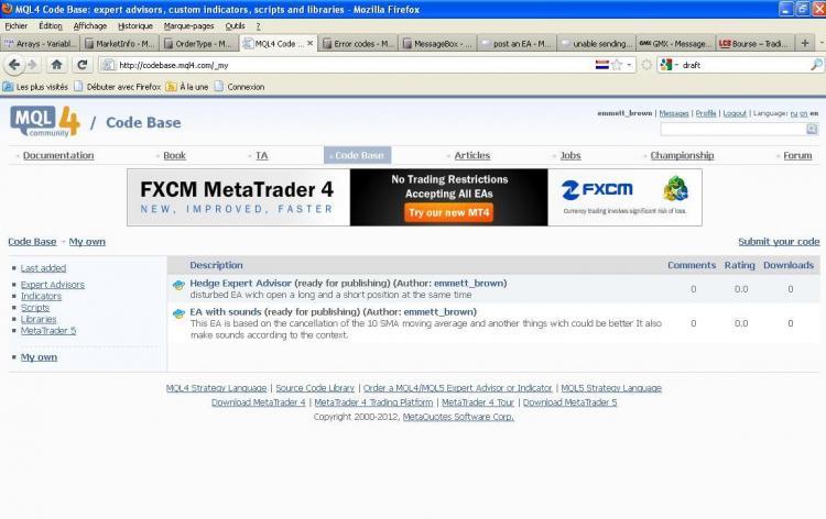 fxcm codebase